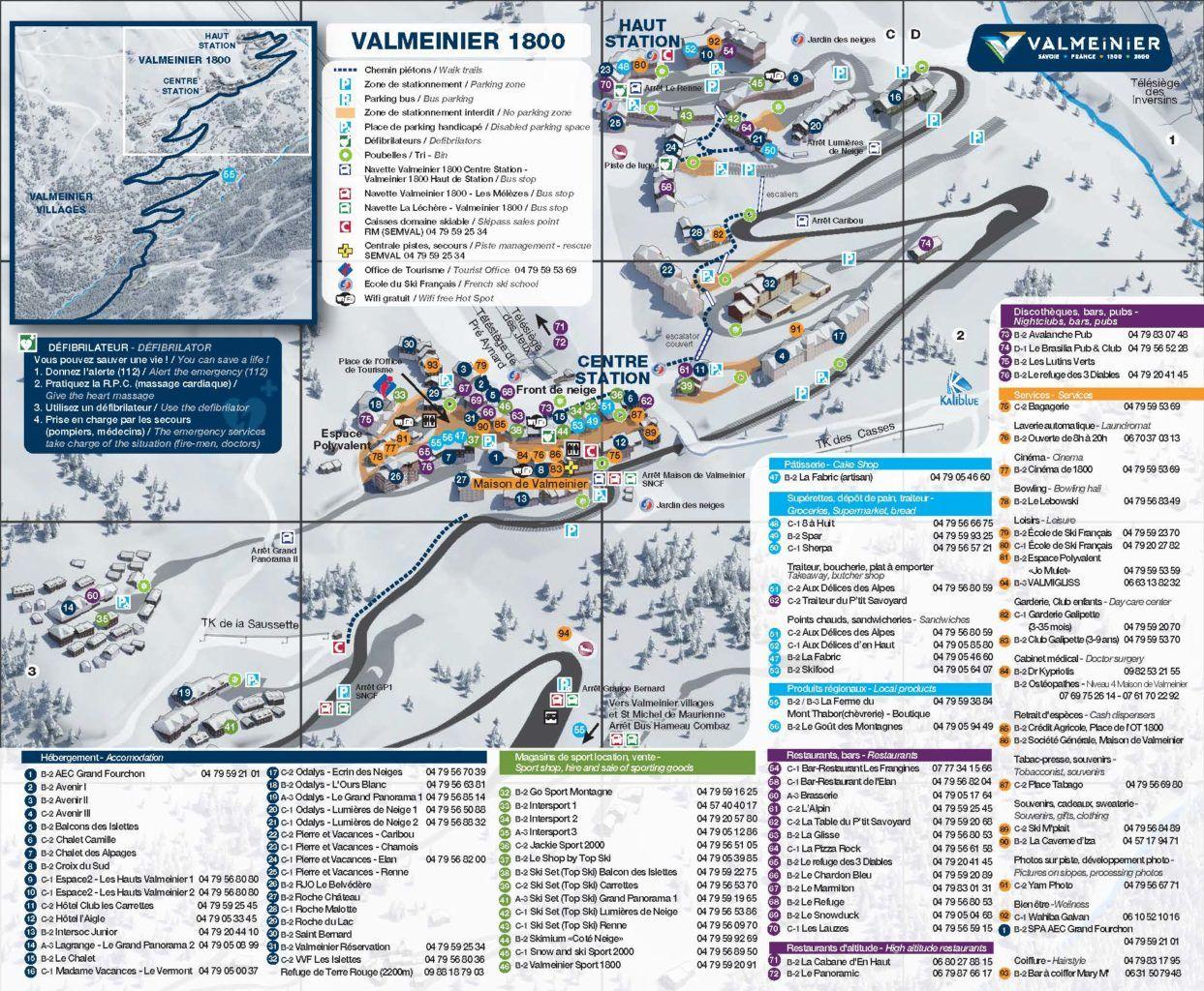 Resort Plan Valmeinier 1800
