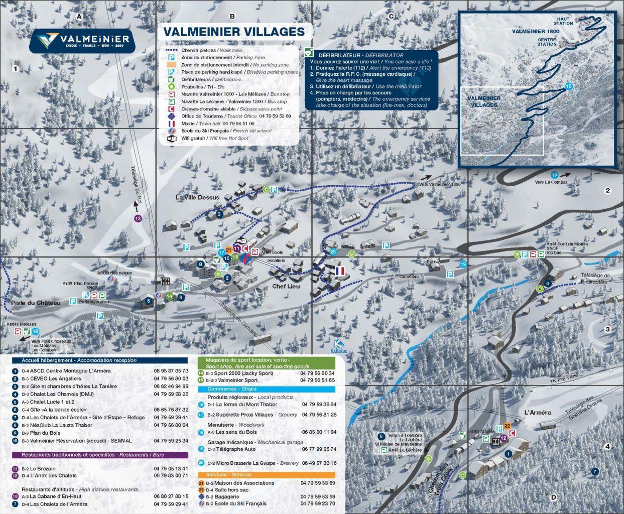 Resort Plan Valmeinier Village