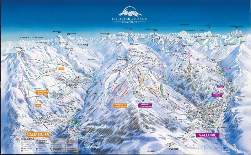 Ski map Galibier Thabor 2014-2015
